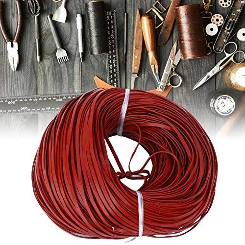 Tira de cuero cordón cordón de cuero manual DIY joyería DIY manualidades DIY hecho a mano (rojo marrón 3mm* 1mm100m)