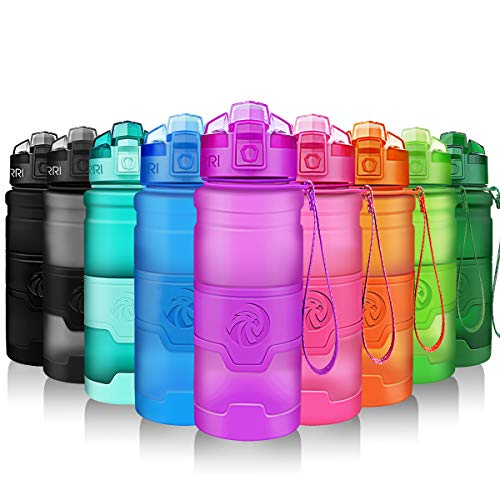 Botella de Agua Deportiva a Prueba de Fugas | Tritan Reutilizable Plástico Ecológico Botellas Sin BPA | 400ml/500ml/700 ml/1L,Para Niños Adulto, Apertura Con un Solo botón- Gimnasio,Senderismo,Colegio