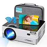 """MOOKA Native 1080P WiFi Bluetooth Projector,Upgraded 8500L HD Video Projector with Carrying Bag,Support 4K &300""""Display,Home&Outdoor Movie Projector Compatible with iOS/Android/PC/TV Stick/PS4"""