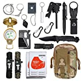 Emergency Survival Kit Justech Upgraded 18 in 1 Outdoor Survival Gear Kit Emergency