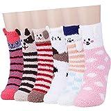Calcetines mullidos para mujeres y niñas – suave y lindo cama acogedor calcetines difusos calientes hogar zapatilla calcetines para invierno