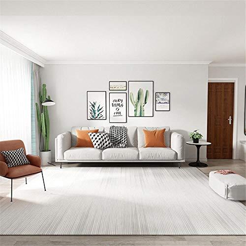 RUGMYW Alto Rendimiento alfombras Infantiles Baratas Patrón Degradado Gris Beige Alfombra Escritorio 140X200cm