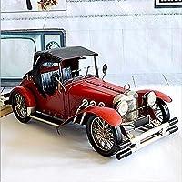 Yangmanini ヨーロッパのレトロなヴィンテージカーモデルカーモデル手作りの錬鉄製の装飾品ソフトホームデコレーション86 * 36 * 35センチメートル(L * W * H)を小道具