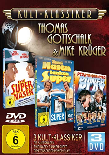 Kultklassiker mit Thomas Gottschalk & Mike Krüger (3DVDs: Die Supernasen, Zwei Nasen tanken super, Piratensender Powerplay)