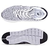 Nike Mens Air Max Modern Flyknit Fabric Low Top, White/White-Black, Size 13.0