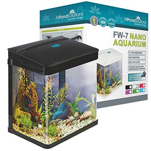 All Pond Solutions Nano Aquarium/Lampes LED, Petit, 7Litre, Noir