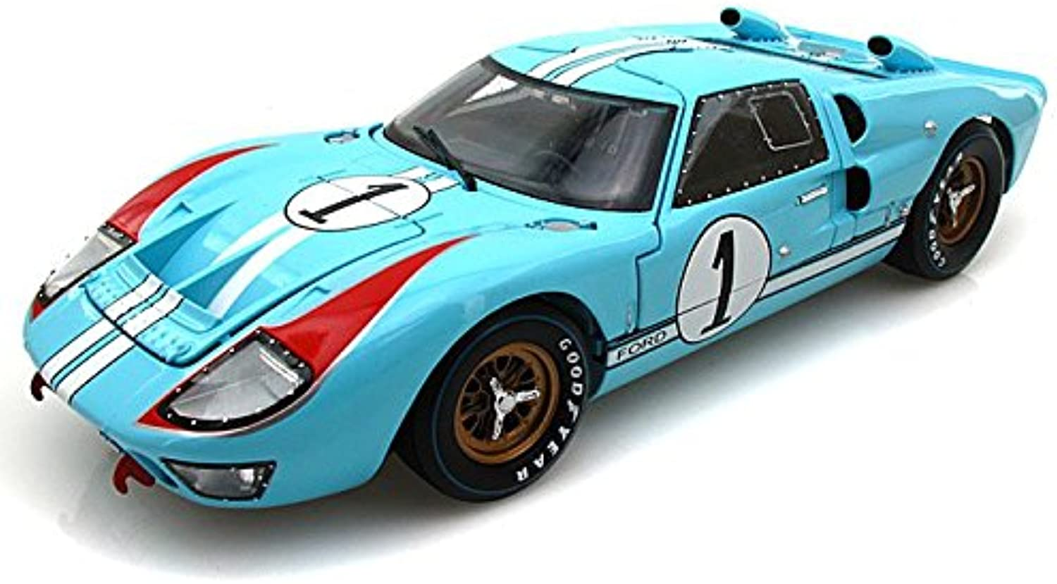 1966 Ford GT40 Mark II  1 Le Mans Miles Hulme 1 18 Gulf bluee (Clean version)
