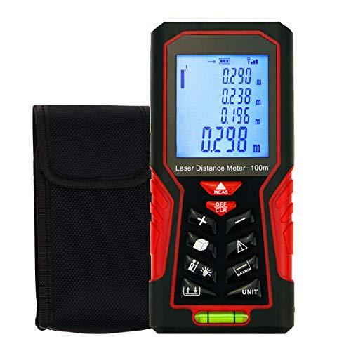 Draagbare afstand meter met max/min-waarde weergave aanbieding vinder tester meetbereik volume, gegevensopslag 100 m (328 ft).