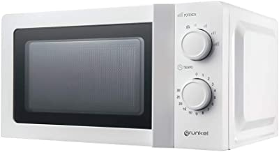 Grunkel - MW-20IG - Microondas blanco de 20 litros de capacidad y 6 niveles de potencia. Función descongelación y temporizador hasta 30 minutos - 700W - Blanco