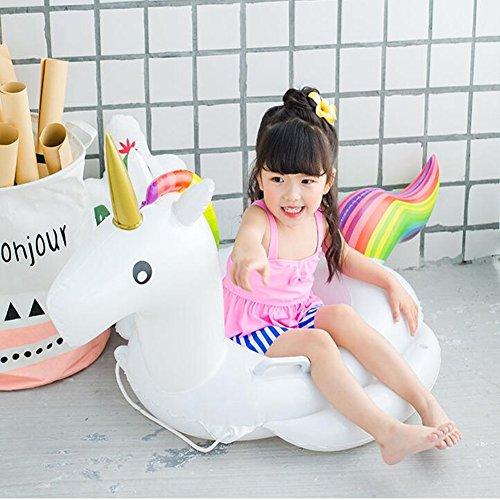 Lady of Luck Baby Schwimmring Einhorn Aufblasbarer Einhorn Schwimmring Kinderboot Aufblasbar Sichere Einhorn Inflatable PVC-Schwimmhilfe