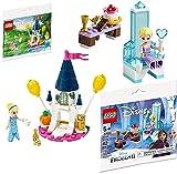 Princess Lego Disney Castle Mini Sets Cinderella Fun Frozen Set + Lego Creator Seasonal Exclusive Set Lego Polybag Edition Building Set Elsa's Throne Winter