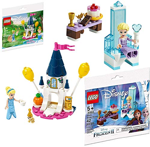 Princess Lego Disney Castle Mini Sets Cinderella Fun Frozen Set + Lego Creator Seasonal Exclusive Set Lego Polybag Edition Building Set Elsa's Throne Winter