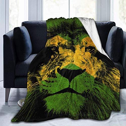 JONINOT Manta De La Siesta Felpa Sofás Franela Bandera de Jamaica con León 40'x50' Buen sueño