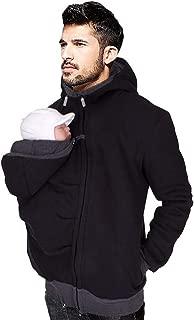 Mens Kangaroo Pouch Hoodies Pullover, [Baby Pet Carrier] Hooded Zipper Sweatshirt Coat