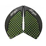 Motorrad Sticker Tank Pad Schutz Seite Gas Knie Grip Protektor für Kawasaki Ninja 650 2017 (Grün)