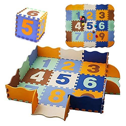 HB.YE Eva dickere Puzzlematte Kinderspielteppich  Schaumstoffmatte Spielmatte Spielteppich Sanfte Baby-Bodenmatte 30*30*1cm