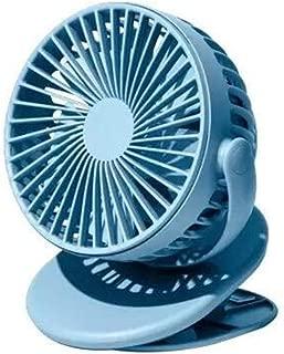 SHANGRUIYUAN-Mini Fan Summer Clip Mini Fan Portable Handheld Windshield Fan 360 Degree Presence Mesh Obliterable Fan for Home Office (Color : Blue)