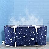 Portable Bathtub,Folding Bath Tub,Mryitcal Non-Inflatable Sauna Hot Tub,for Indoor Adult Shower Relaxation Keep Temperature Suitable for Two Persons