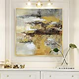 wZUN Pintura al óleo de Moda Imagen de Pared Abstracta Lienzo Arte Decorativo Pintura Lienzo Arte Decorativo 60x60 Sin Marco