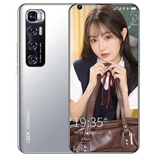 Teléfono inteligente sin SIM, teléfonos móviles Android baratos 4 / 5G con pantalla de 7.2 pulgadas, batería de 6000 mAh, cuatro cámaras con doble SIM, teléfonos celulares duraderos y hermosos