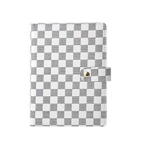 SENFEISM Cuaderno A5, Carpeta de Anillas Personalizada, Diario Escolar, Organizador, planificador, agendas, Cuadernos, Bloc de Notas Impermeable de Cuero