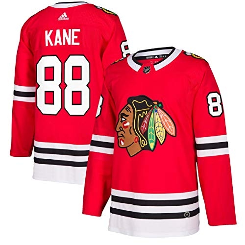 adidas Patrick Kane Chicago Blackhawks Authentic Player Jersey – Red (44)