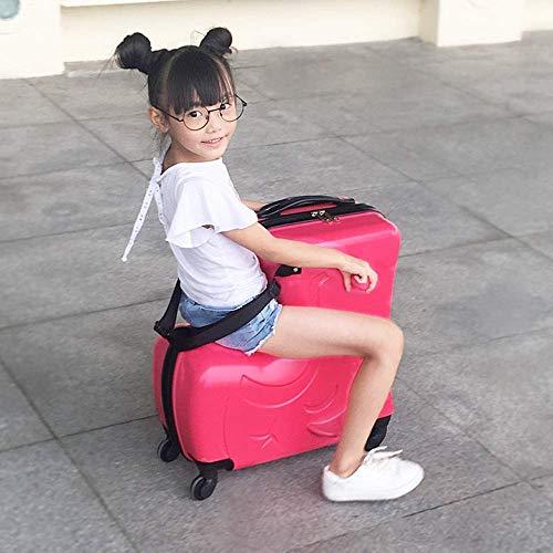 L@LILI La Maleta para niños se Puede Usar para Montar la Carretilla El bebé con un bebé Puede Montar al niño Sentado en la Maleta Montando una Mujer, 59cmX25cmX58cm Maletas,B
