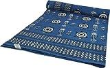 Guru-Shop Blockdruck Tagesdecke, Bett und Sofaüberwurf, Handgearbeiteter Wandbehang, Wandtuch Blau, Mehrfarbig - Design 4, Baumwolle, Größe: Double 225x275 cm, Tagesdecken mit Blockdruck