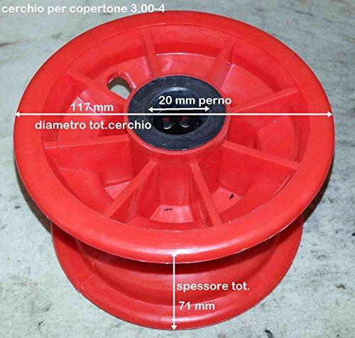 Cercle en plastique 3.00 – 4 avec roulement D.20