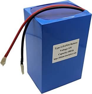 12V100Ah Lithium Iron LiFePO4 Battery with BMS (Battery Management System) Designed for 12 Volts Power System Contain 4S 3.2V 100Amps Prismatic Batteries and 100A Maximum Charge or Discharge