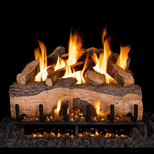 Lowest Prices! Peterson Real Fyre 33-Inch Mountain Crest Split Oak Gas Log Set with Vented G31 Three...