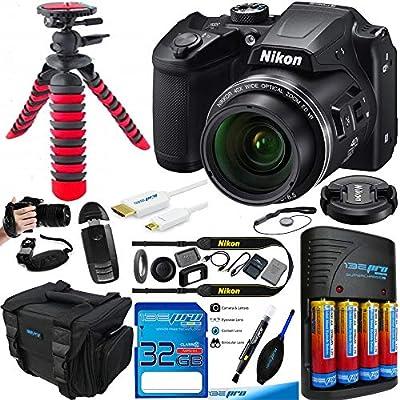 Nikon COOLPIX B500 Digital Camera (Black) - Essential Accessories Bundle from BuzzPhoto