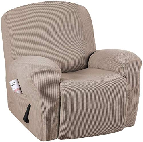 JIAYOUFC Sofa Slipcovers High Stretch Spandex Sofa Cover Recliner Chair Slipcover 1 Piece Recliner Chair Furniture Cover Slipcover, Machine Washable Lycra Jacquard Fabric Stay In Place, Recliner (S