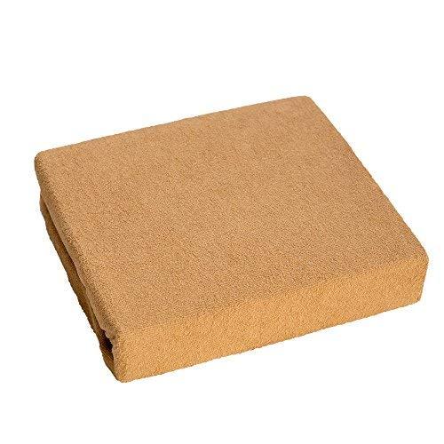 Drap-housse en Tissu Éponge pour Lit Bébé 160x70 cm - Marron