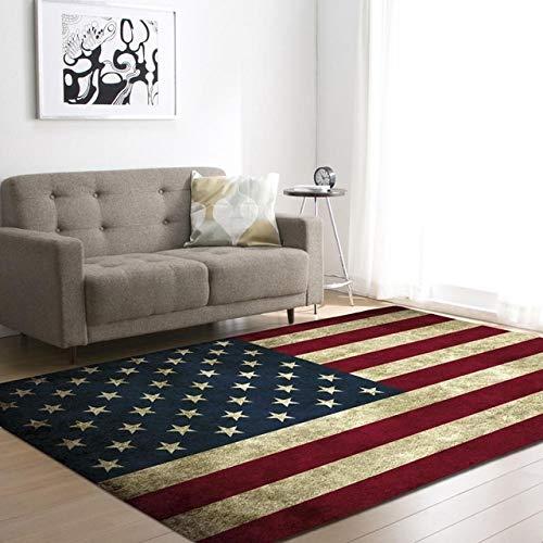 ZFDM Bandera Americana-británica-brasileña Alfombra de la Sala Antideslizante sofá Tatami Tapetes Tabla Mats -120 * 180cm (Color : 1, Size : 120x160cm)