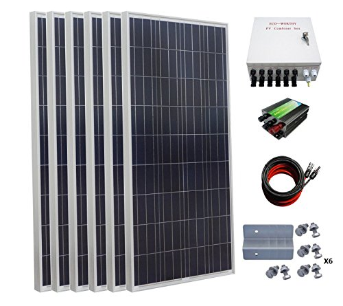ECO-WORTHY 900 Watt 24 Volt Solar Panel Off Grid RV Boat Kit with 45A PWM Charge Controller