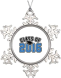 Metal Ornaments Class Of 2016 Teaching Tree Branch Decoration Christmas Decors