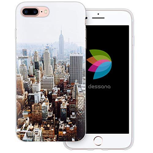 dessana New York - Custodia protettiva in silicone TPU ultra sottile per Apple Apple, TPU. silicone, Skyline NYC, Apple iPhone 7 Plus
