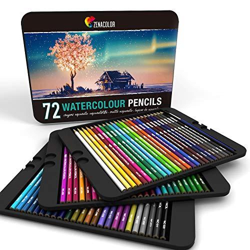 Zenacolor Aquarell Buntstifte, 72 Farbtöne