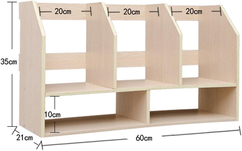 Bookshelf Book Stand 60 60 60 (Länge)  21 (Breite)  35 (hoch) Cm Double Layer Student Desktop Storage Rack Creative Office B071H3DRKC | Neuartiges Design  859f1e