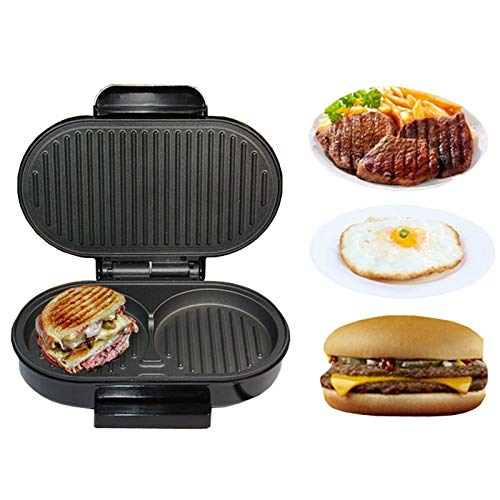 SISHUINIANHUA Home Mini Panini Sandwich-Maschine 220V Elektro-Griddle Hamburger Maker Steak Steak Bratpfanne Eier Cooker 750W