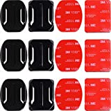 Adhesive Mounts for GoPro Cameras - 3X Curved &...