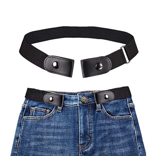 Nifogo Cintura Elastica Invisibile Cintura Elastica Invisibile Cintura senza Fibbia per Donna/Uomo (40 Pollici Regolabile) Senza Fibbia per Qualsiasi Taglia