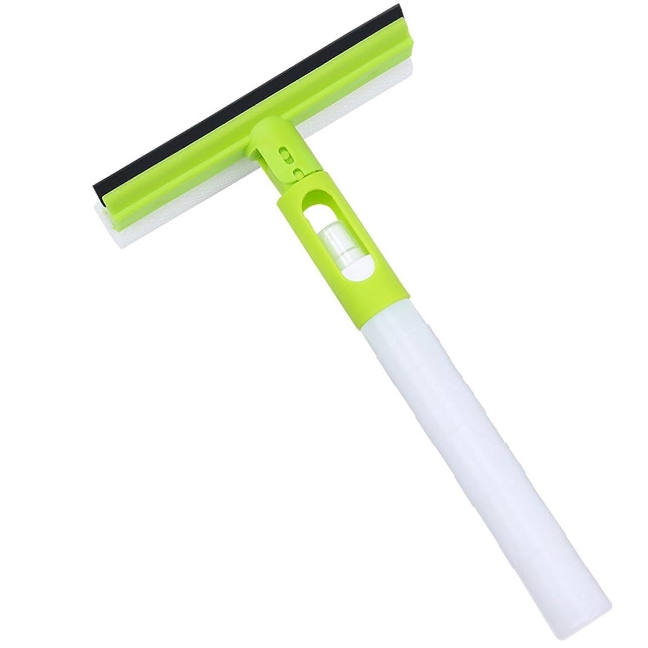 でも気質揺れるプラスチックガラスワイパー両面洗浄多目的ウォータージェットスキージ ( 色 : 緑 )