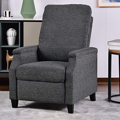Recliner Chair for Living Room Thickness Back Cushion Modern Armchair Single Seat Small Speace for Apartment (Grey)