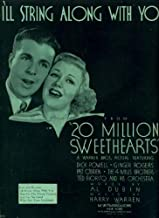 I'll String Along With You Vintage Sheet Music from