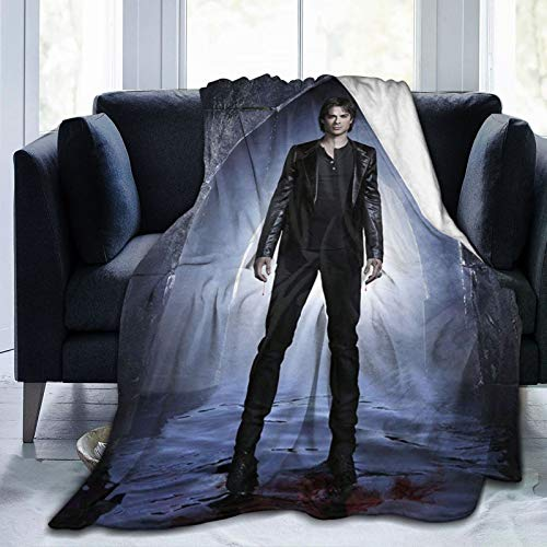 Wteqofy Kids and Adults Camping Blanket vampire diaries Decorative Bedspread Throw Blankets All Season for Couch Sofa Bed Travel(50x40 inch)
