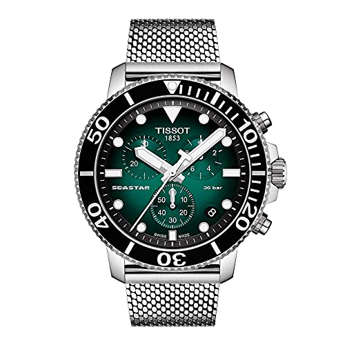 Tissot Herren-Taucheruhr Chronograph Seastar 1000 Grün T120.417.11.091.00