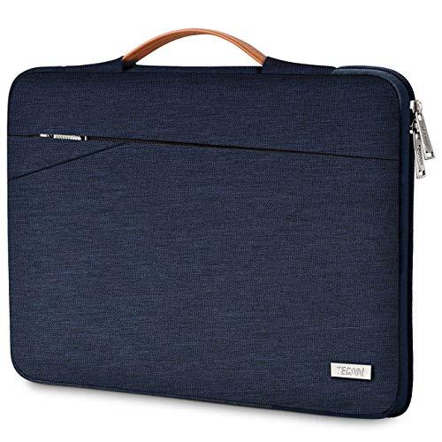 TECOOL 14 Zoll Laptop Hülle Tasche Notebooktasche Stoßfestes Tragetasche Schutzhülle mit Griff für 14 Zoll Acer/Dell/HP/Lenovo Notebooks, Blau