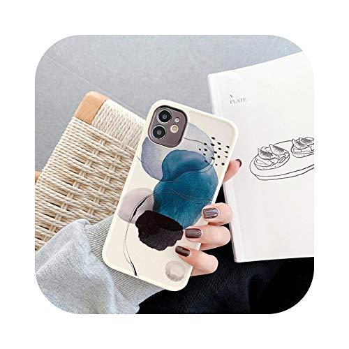 Funda de mármol para iPhone 12 Pro Caso de teléfono para iPhone 11 Pro Max 12 Mini XS Max X XR 7 8 Plus suave TPU esquina Bumper Cover para iPhone XR